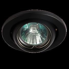 Knightsbridge LE04BK1 IP20 12V 50W max. L/V Black Eyeball Downlight with Bridge