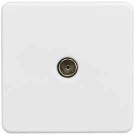 Knightsbridge SF0100MW Screwless 1G TV outlet (non-isolated) - Matt white