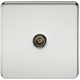 Knightsbridge SF0100PC 1G TV Coax Outlet Non-Isolated Polished Chrome
