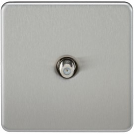 Knightsbridge SF0150BC 1G Sat/TV Outlet Non-Isolated Brushed Chrome