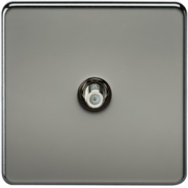 Knightsbridge SF0150BN 1G Sat/TV Outlet Non-Isolated Black Nickel