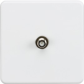 Knightsbridge SF0150MW Screwless 1G SAT TV outlet (non-isolated) - Matt white