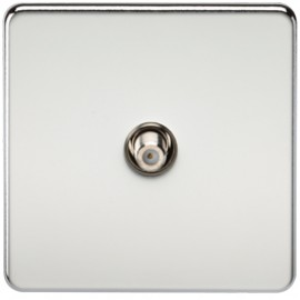 Knightsbridge SF0150PC 1G Sat/TV Outlet Non-Isolated Polished Chrome