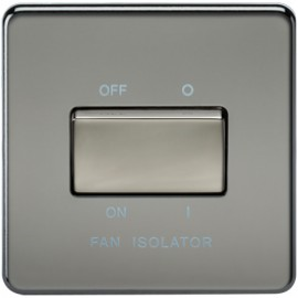 Knightsbridge SF1100BN 10A 3 Pole Fan Isolator Switch Black Nickel