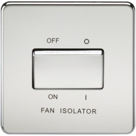 Knightsbridge SF1100PC 10A 3 Pole Fan Isolator Switch Polished Chrome