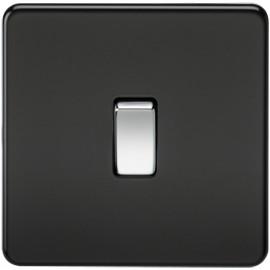 Knightsbridge SF1200MB 10A 1G Intermediate Switch Matt Black