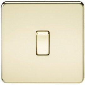 Knightsbridge SF1200PB 10A 1G Intermediate Switch Polished Brass