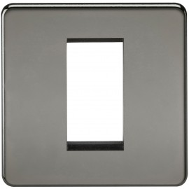 Knightsbridge SF1GBN Screwless 1G Modular Faceplate - Black Nickel