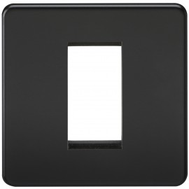 Knightsbridge SF1GMB Screwless 1G Modular Faceplate - Matt Black