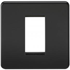 Knightsbridge SF1GMB Screwless 1G Modular Faceplate - Matt Black