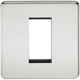 Knightsbridge SF1GPC Screwless 1G Modular Faceplate - Polished Chrome