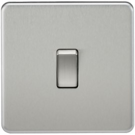 Knightsbridge SF2000BC 10A 1G 2 Way Switch Brushed Chrome