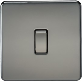 Knightsbridge SF2000BN 10A 1G 2 Way Switch Black Nickel