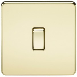 Knightsbridge SF2000PB 10A 1G 2 Way Switch Polished Brass