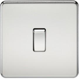 Knightsbridge SF2000PC 10A 1G 2 Way Switch Polished Chrome