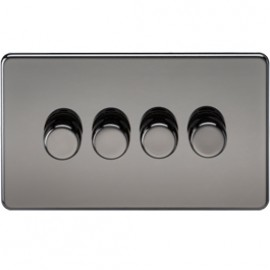 Knightsbridge SF2164BN 4G 2 Way Dimmer 400W Black Nickel