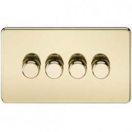 Knightsbridge SF2164PB 4G 2 Way Dimmer 400W Polished Brass