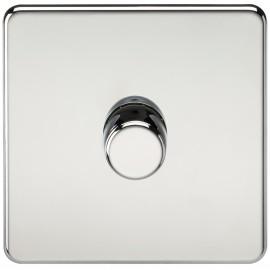 Knightsbridge SF2171PC Screwless 1G 2-Way 40-400W Dimmer Switch - Polished Chrome