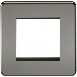Knightsbridge SF2GBN Screwless 2G Modular Faceplate - Black Nickel