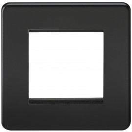 Knightsbridge SF2GMB Screwless 2G Modular Faceplate - Matt Black