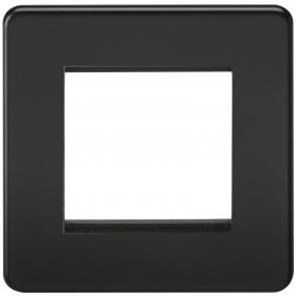 Knightsbridge SF2GMB Screwless 2G Modular Faceplate - Matt Black