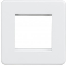 Knightsbridge SF2GMW Screwless 2G Modular Faceplate - Matt White