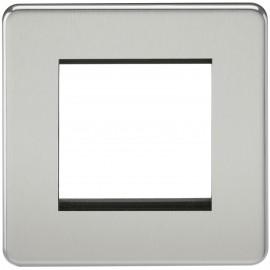 Knightsbridge SF2GPC Screwless 2G Modular Faceplate - Polished Chrome