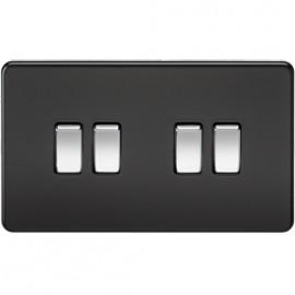 Knightsbridge SF4100MB 10A 4G 2 Way Switch Matt Black