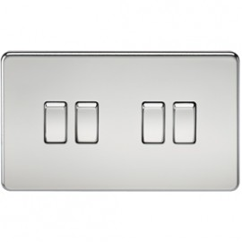 Knightsbridge SF4100PC 10A 4G 2 Way Switch Polished Chrome