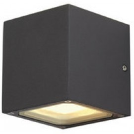 Sitra Cube Up / Down Outdoor Wall Light Rust / Anthacite Or White 232537