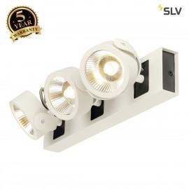 SLV 1000116 KALU LED 3 Wall and Ceiling luminaire, white/black, 3000K, 24°
