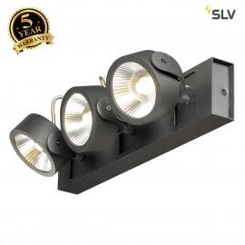 SLV 1000131 KALU LED 3 Wall and Ceiling luminaire, black, 3000K, 60°