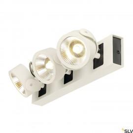 SLV 1000132 KALU LED 3 Wall and Ceiling luminaire, white/black, 3000K, 60°