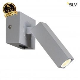 SLV 1000326 STIX LED Wall luminaire, 3000K, 30°, silbergrau