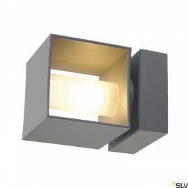 SLV 1000335 SQUARE TURN, QT14, Outdoor Wall luminaire, silvergrey, max. 42W, IP44