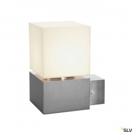 SLV 1000336 SQUARE WALL, E27, Outdoor Wall luminaire, alu brushed, max. 20W, IP44