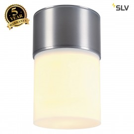 SLV 1000338 ROX ACRYL CEILING, E27, Outdoor Ceiling luminaire, alu brushed, max. 20W, IP44