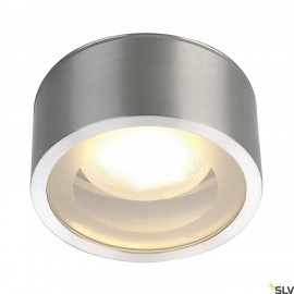 SLV 1000339 ROX CEILING OUT, TCR-TSE, Outdoor Ceiling luminaire, alu brushed, max. 11W, IP44