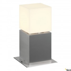 SLV 1000344 SQUARE POLE 30, E27, Outdoor Bollard, alu brushed, max. 20W, IP44
