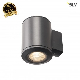 SLV 1000448 POLE PARC LED Outdoor Wall luminaire, anthracitee, 3000K, IP44