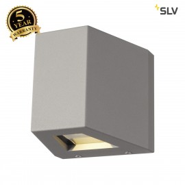 SLV 1000587 OUT BEAM QT-DE12 Outdoor Wall luminaire, Beam/Flood , silvergrey, max. 80W, IP44