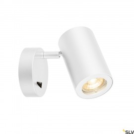 SLV 1000730 ENOLA_B Wall luminaire, QPAR51, with switch, white, max. 50W