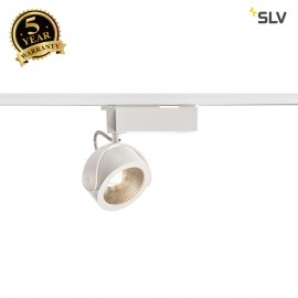 SLV 1000766 KALU LED Spot for 1Phase High-voltage Tracksystem, 3000K, white/black, 24°, incl. 1 Phase adapter