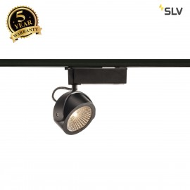 SLV 1000767 KALU LED Spot for 1Phase High-voltage Tracksystem, 3000K, black, 60°, incl. 1 Phase adapter