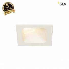 SLV 1000795 VERLUX LED Recessed ceiling luminaire, asymetric, white, 3000K, 10W