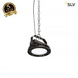 SLV 1000829 PARA FLAC LED Pendant luminaire, black, 200W 4000K, IP65