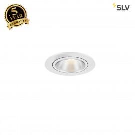 SLV 1000907 KAHOLO E27 Recessed ceiling luminaire, white, max. 50W