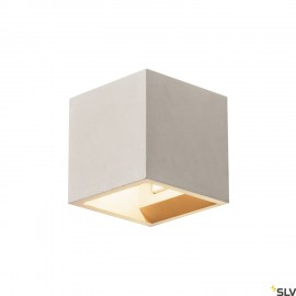 SLV 1000910 SOLID CUBE Wall luminaire, QT14, grey, max. 25W