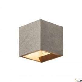 SLV 1000911 SOLID CUBE Wall luminaire, QT14, black sandstone, max. 25W