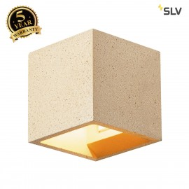 SLV 1000912 SOLID CUBE Wall luminaire, QT14, yellow sandstone, max. 25W